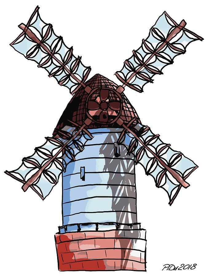 Windmill by Piotr Dulski