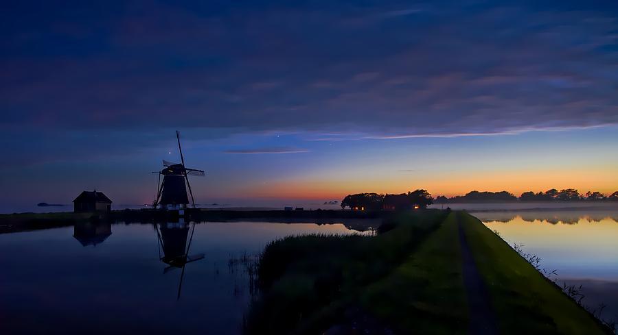 Windmill Photograph - Windmill Pond by Dawn Van Doorn