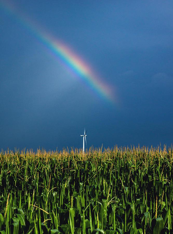 Windmill Rainbow Photograph