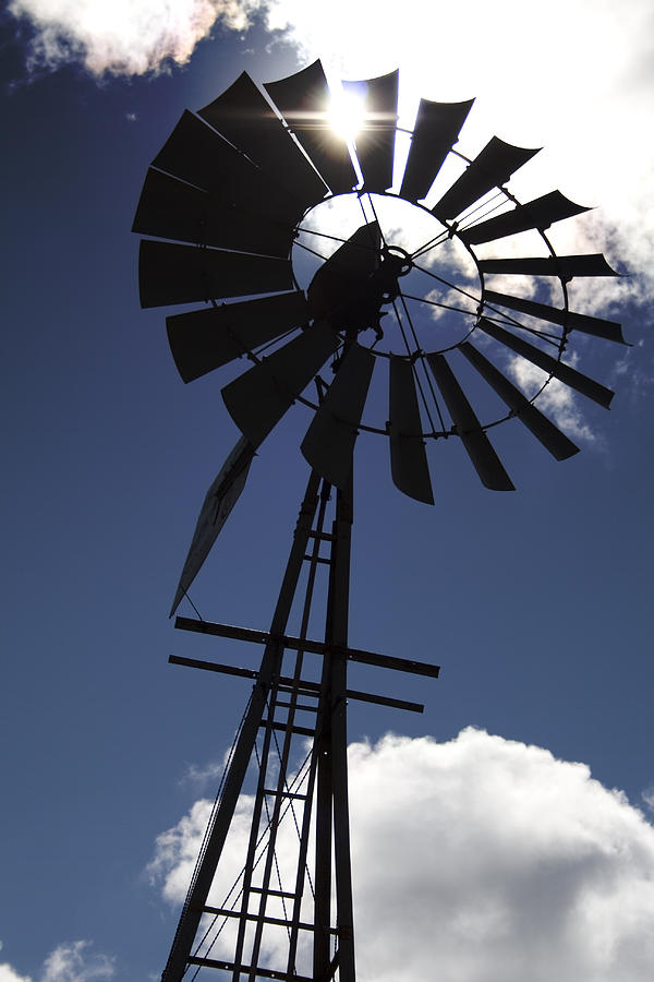Windmill Photograph - Windmill Silhouette  by Kandie  Kingery