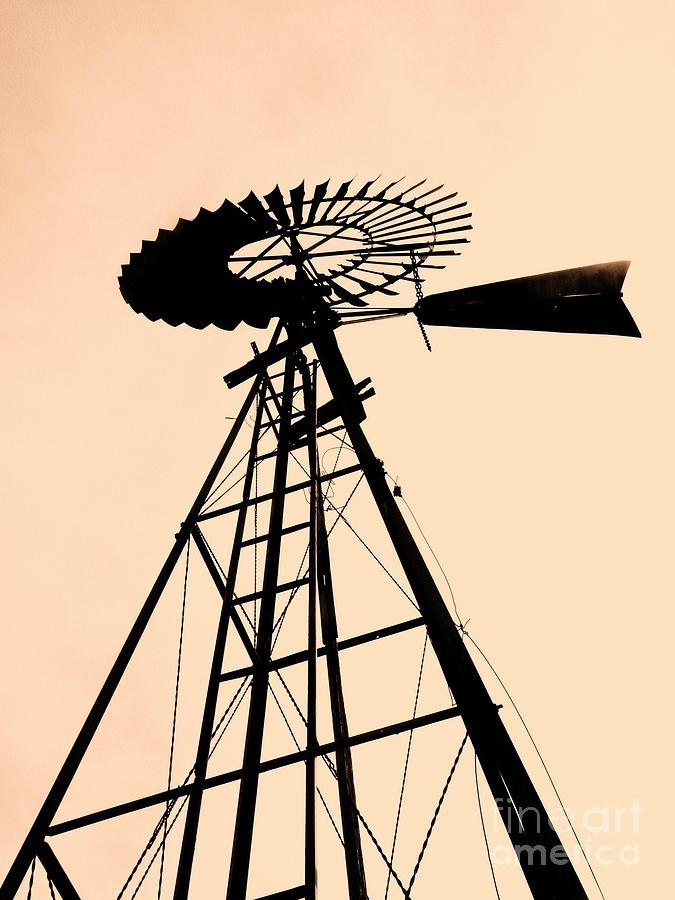 Windmills Photograph - Windmill Standing Tall by Christine Belt
