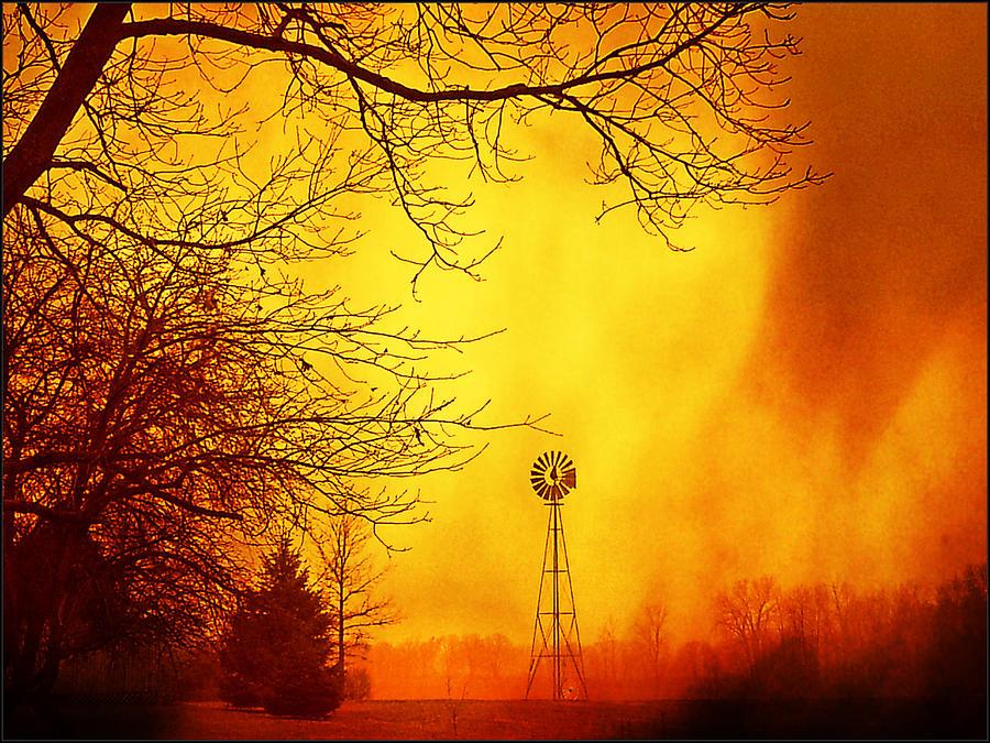 Windmill Storm by Michael L Kimble