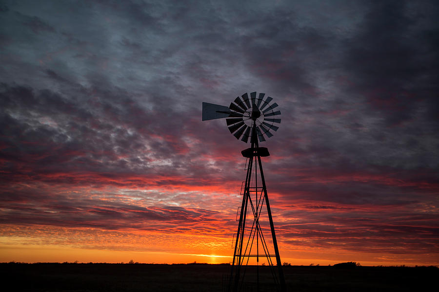 Windmill Sunset 21815 Photograph by Chris Harris