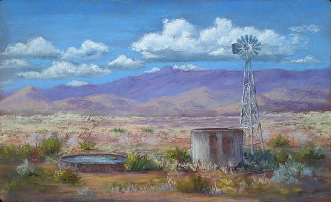 Landscape Painting - Windmill Too by Jo Castillo