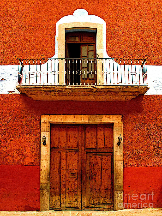 Darian Day Photograph - Window Above The Wooden Door by Mexicolors Art Photography