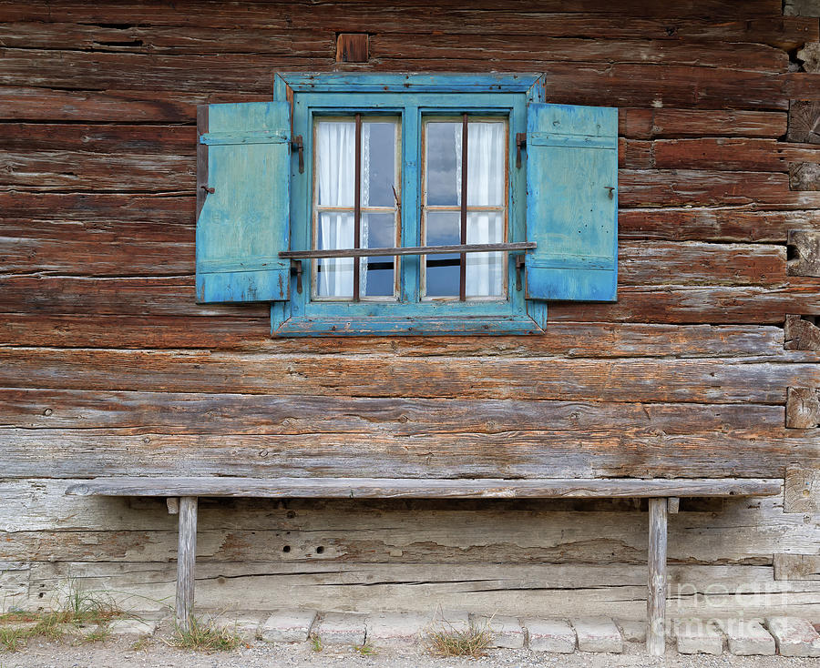 Window Photograph - Window And Bench by Yair Karelic