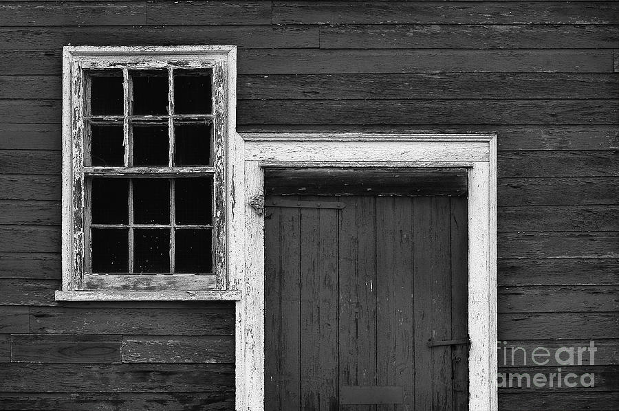 Window Photograph - Window And Door Bw by Mike Nellums