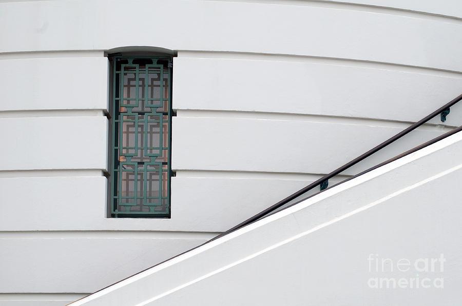 Window Photograph - Window And Rail by Dan Holm