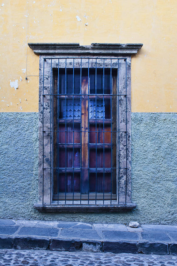 San Miguel De Allende Photograph - Window And Textured Wall by Carol Leigh