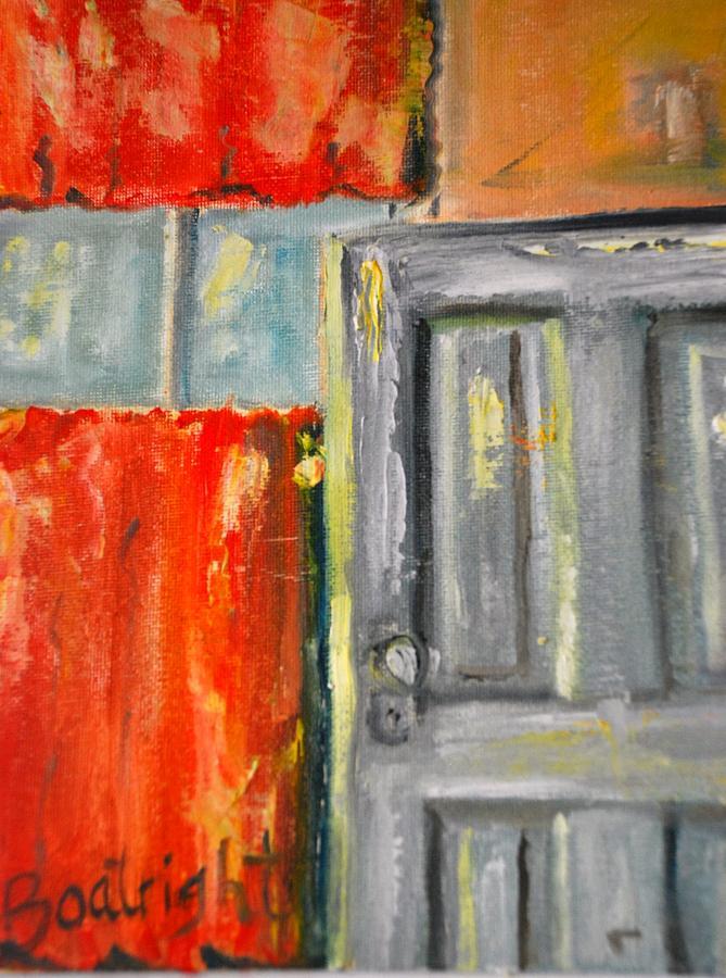 Door Painting - Window And The Pantry Door by Diane Fiore