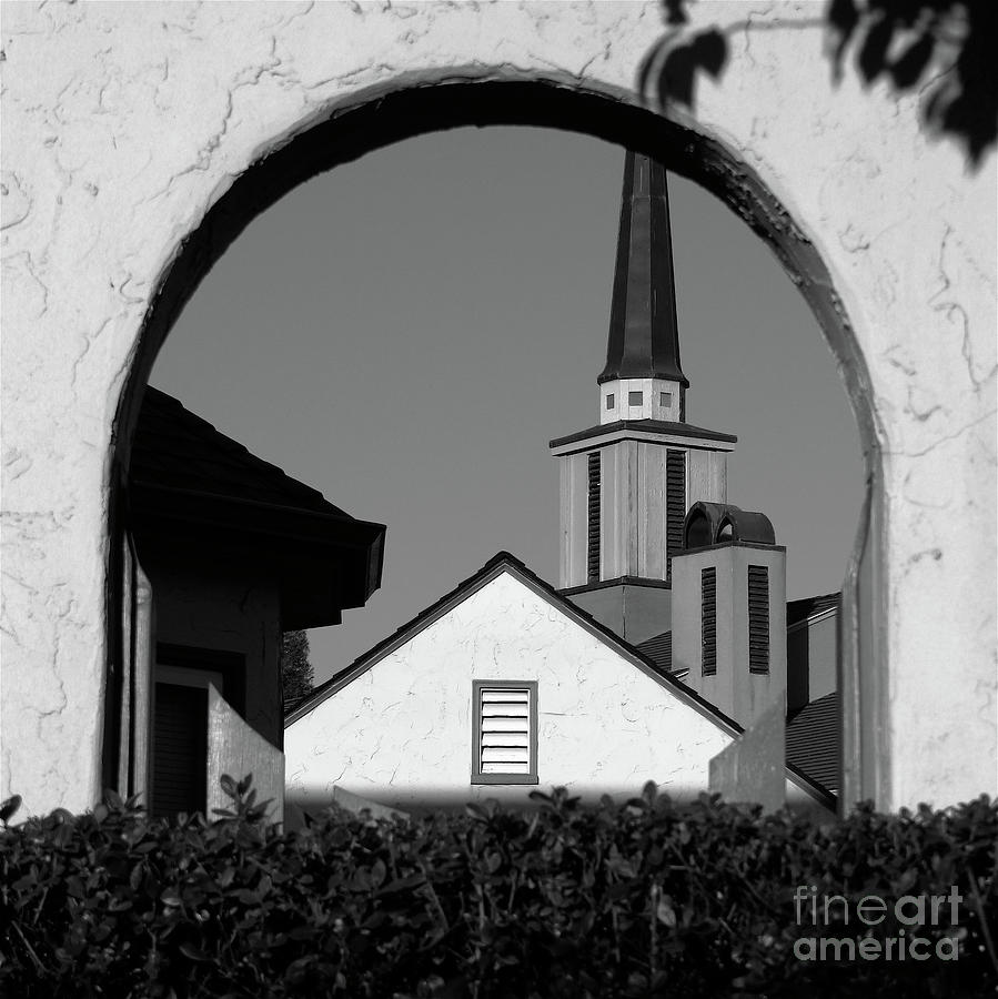 Small Town Photograph - Window Arch by CML Brown