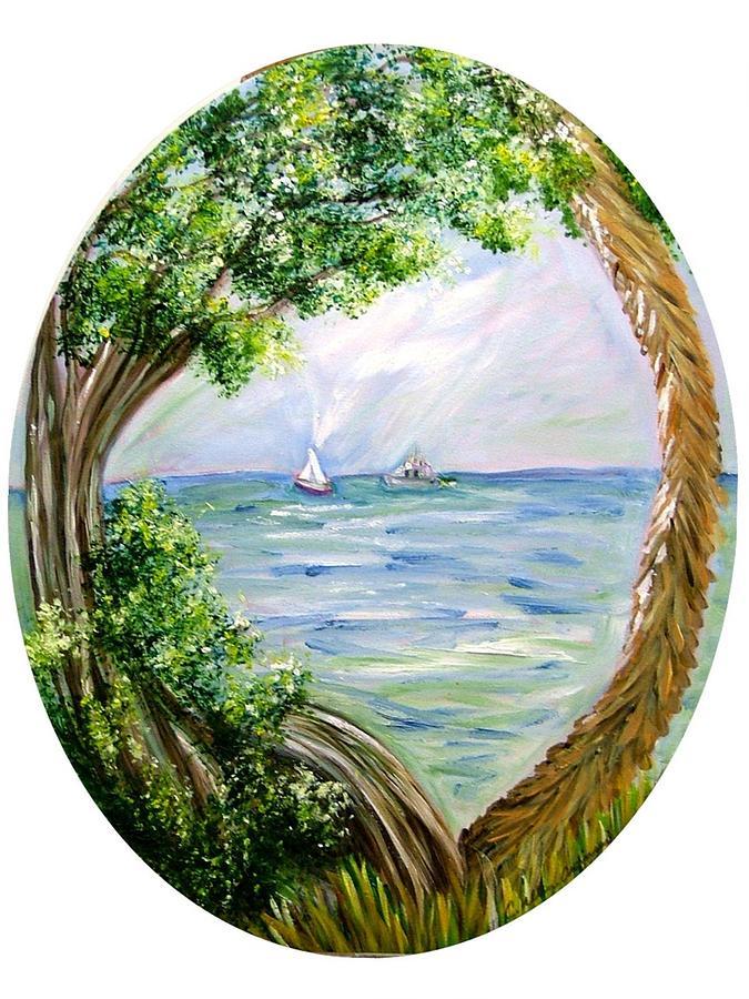 Sea Painting - Window by Carol Allen Anfinsen