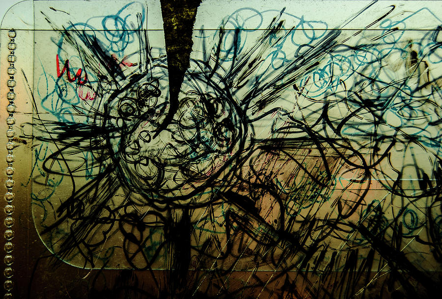 Window Photograph - Window Drawing 01 by Grebo Gray
