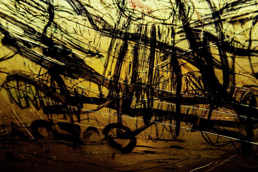 Plastic Photograph - Window Drawing 06 by Grebo Gray