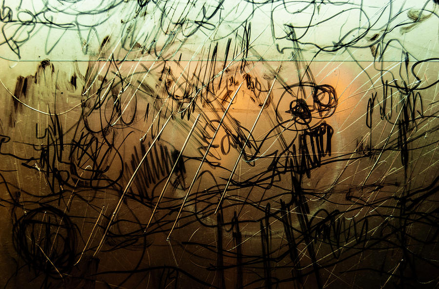 Plastic Photograph - Window Drawing 09 by Grebo Gray