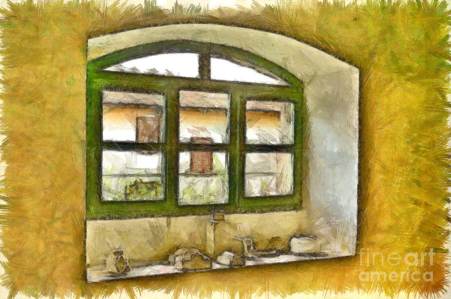 Pencil Digital Art - Window by Giuseppe Cocco
