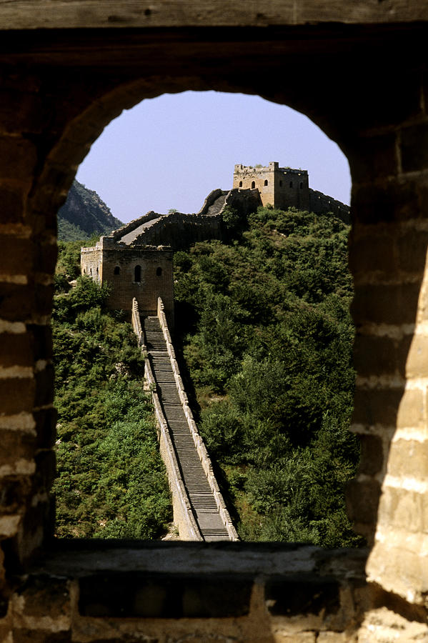 Afar Photograph - Window Great Wall by Bill Bachmann - Printscapes