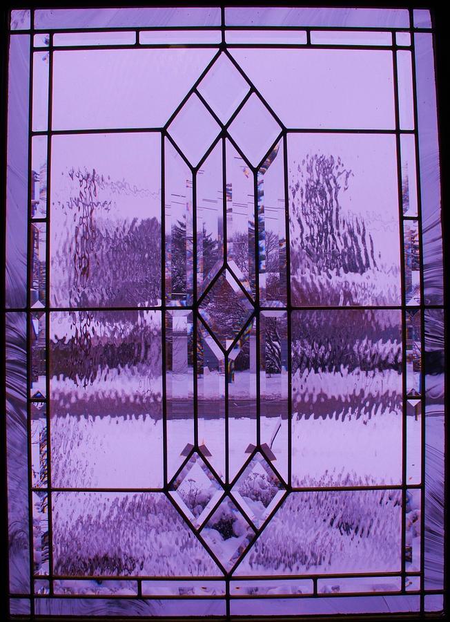 Abstract Photograph - Window I by Anna Villarreal Garbis