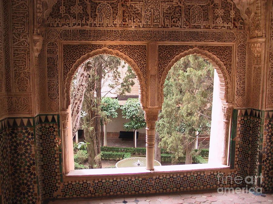 Window Photograph - Window In La Alhambra by Thomas Marchessault