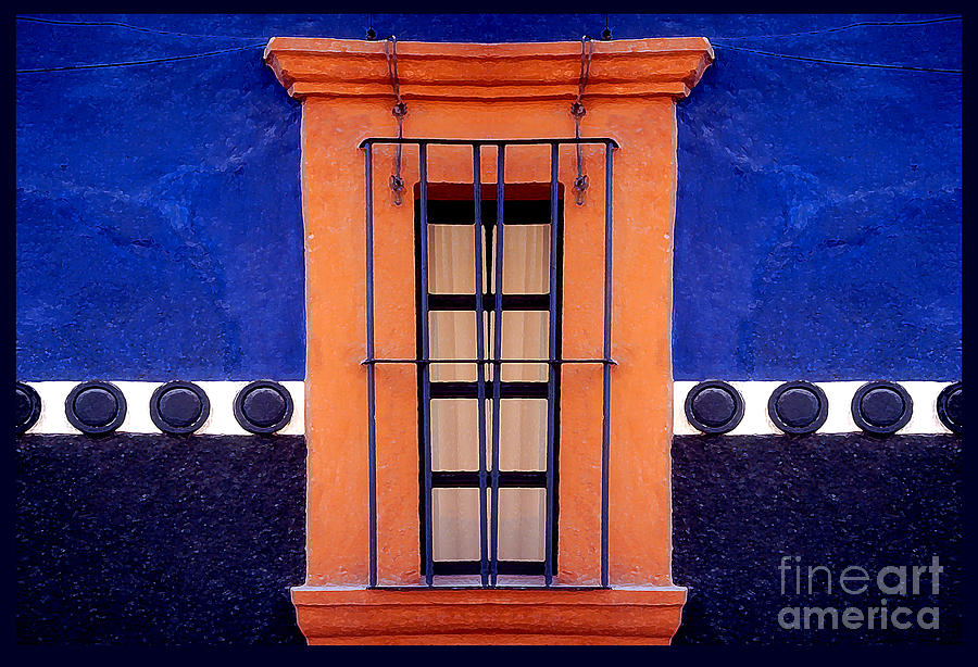 Abstract Photograph - Window In San Miguel De Allende by Linda  Parker