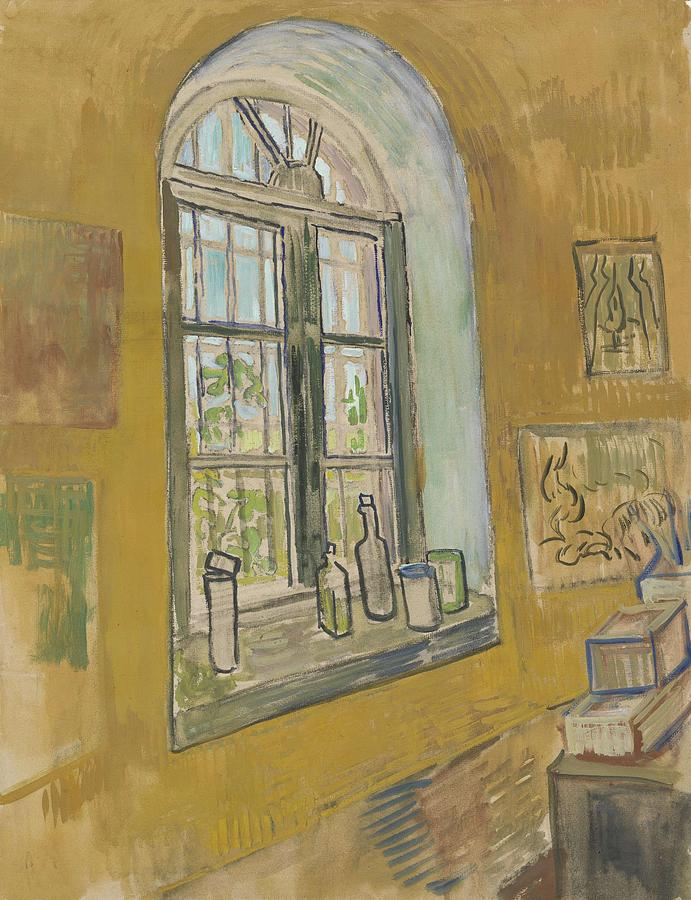 Background Painting - Window In The Studio Saint-remy-de-provence, September - October 1889 Vincent Van Gogh 1853 - 1890 by Artistic Panda