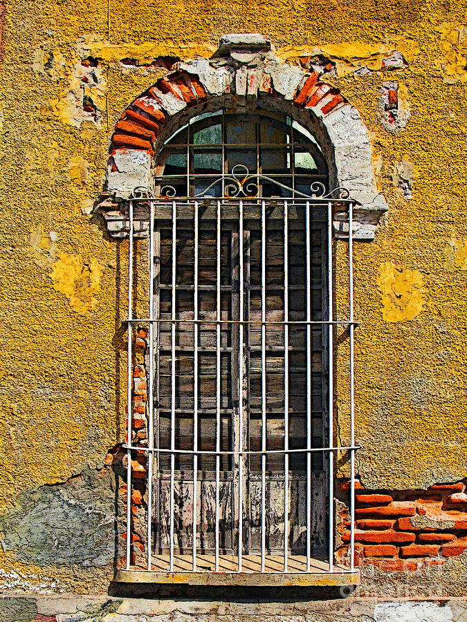 Darian Day Photograph - Window In The Yellow Wall By Darian Day by Mexicolors Art Photography