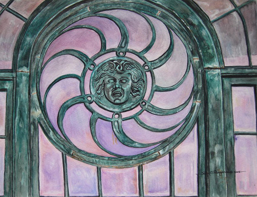 Window Painting - Window Memory by Judy Riggenbach