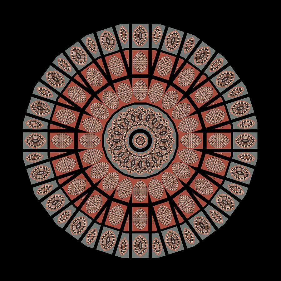 Window Photograph - Window Mosaic - Mandala - Transparent by Nikolyn McDonald