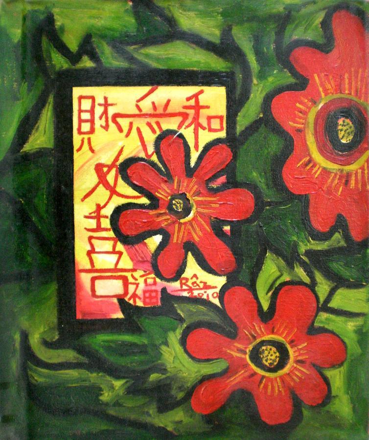 Window Of Goodluck Painting by Rizwana Mundewadi