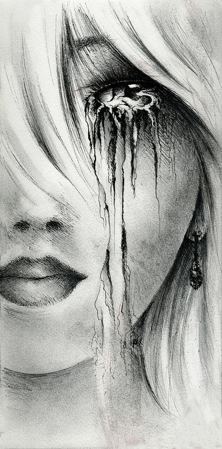 Woman Drawing - Window Of The Soul by Rachel Christine Nowicki