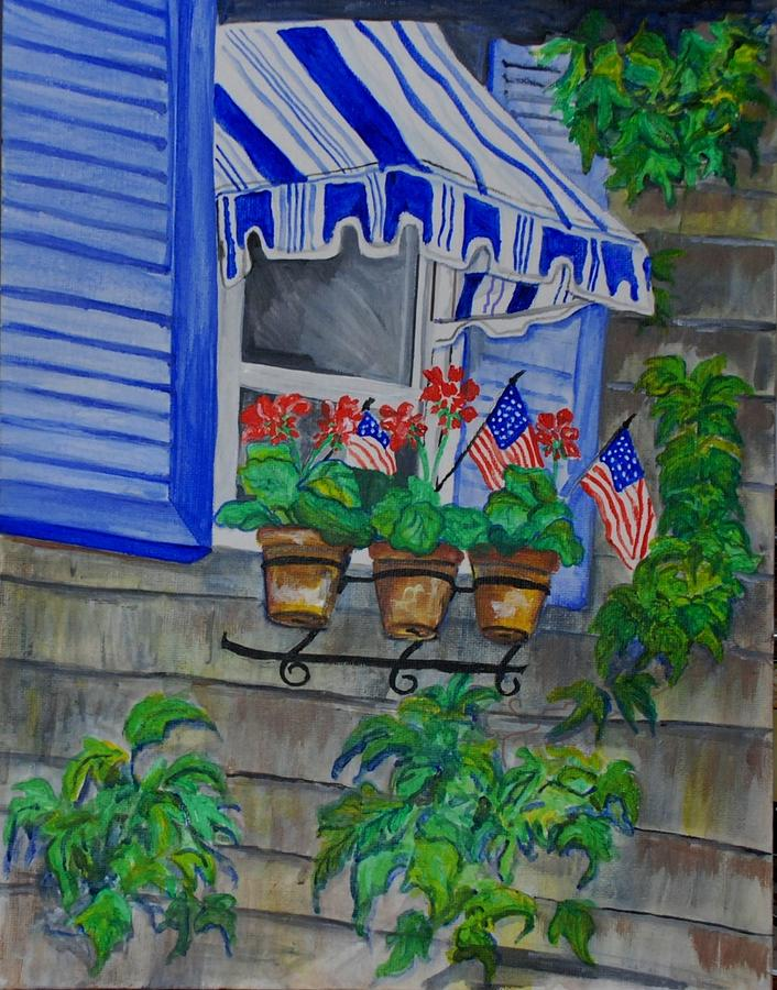 Landscape Painting - Window On Perkins Cove by Anita Banks Ambrister