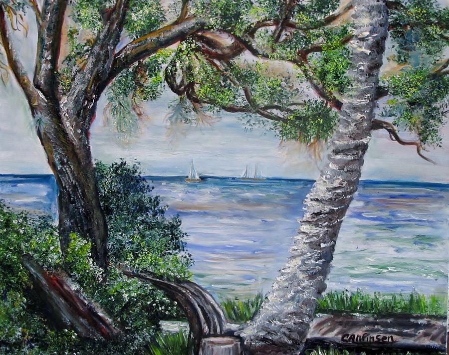 Water Painting - Window On Pine Island by Carol Allen Anfinsen