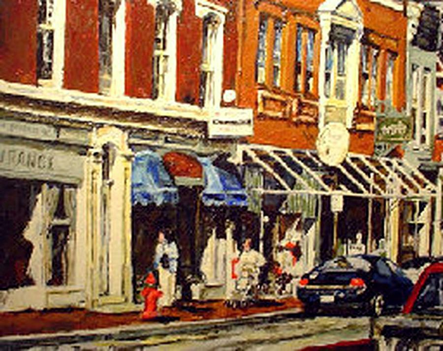 Cityscape Painting - Window Shopping by Thomas Akers