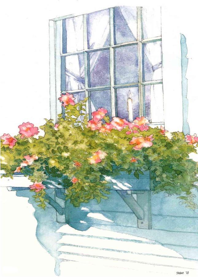 Flowers Painting - Window Sill by Sloane FinneganAllen
