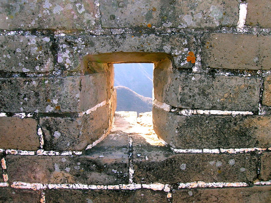 Great Wall Of China Photograph - Window To The World by Britta Loucas