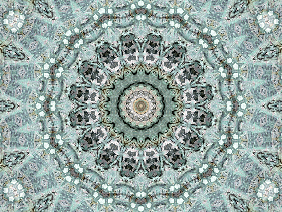 Janusian Digital Art - Window To The World Mandala by Janusian Gallery