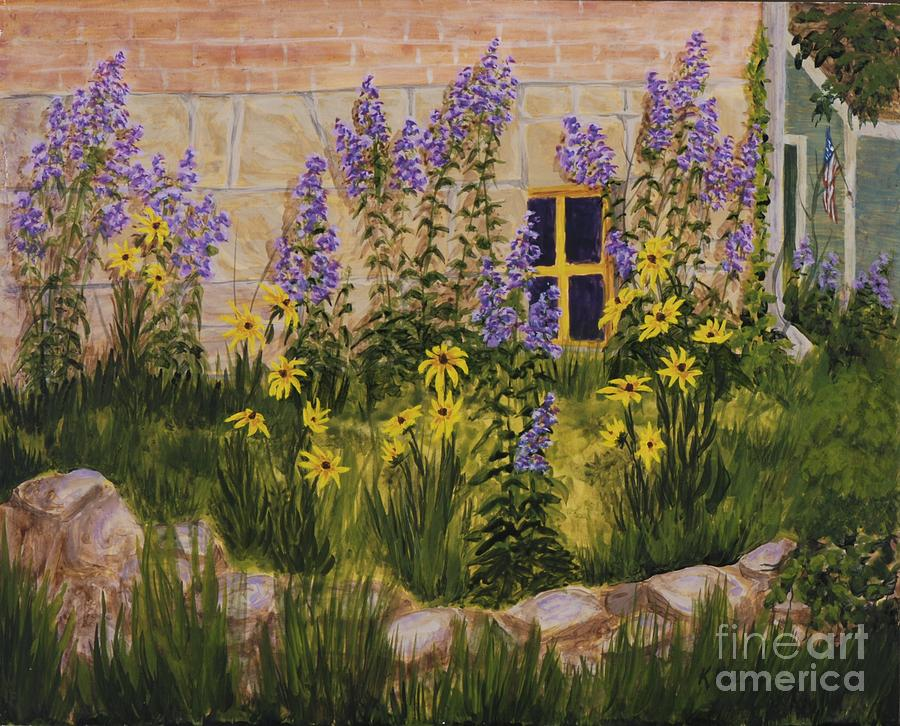 Windows Painting - Window With A View by Kathleen Keller