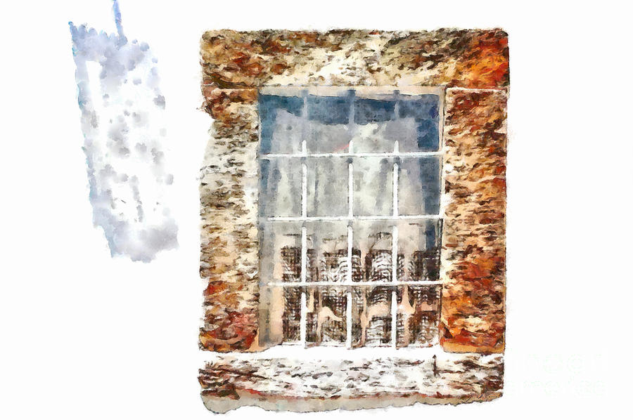 Window Painting - Window With Shadow On The Wall by Giuseppe Cocco