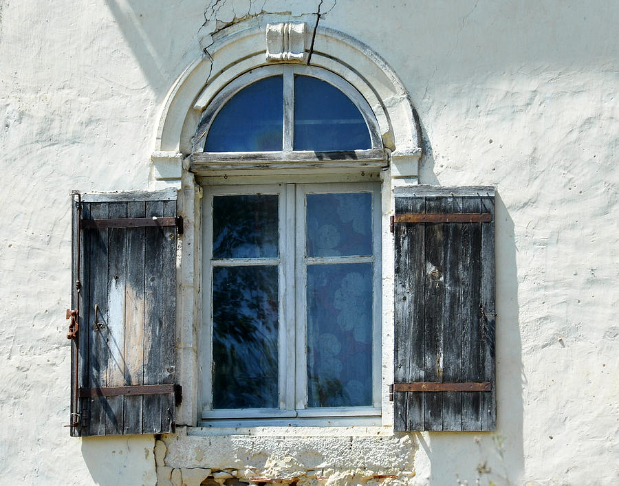 Window Photograph - Window With Shutters by Marion McCristall