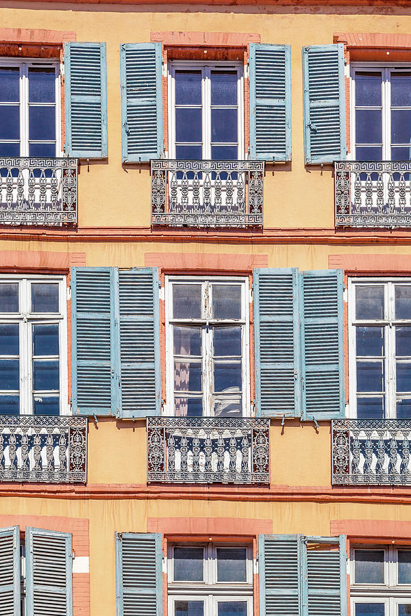 France Photograph - Windows Are The Eyes Of A Building by W Chris Fooshee