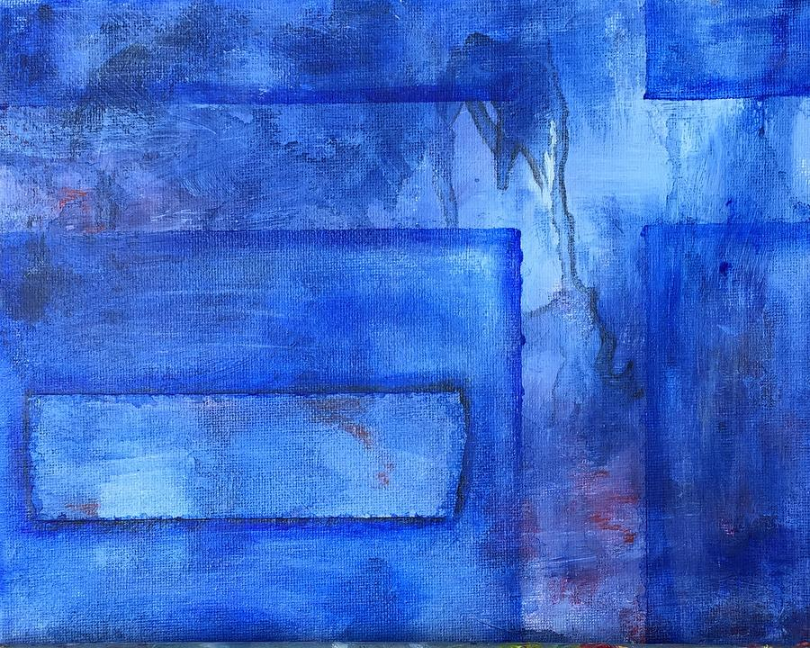 Lyrical Abstract Painting - Windows by Abbie Groves