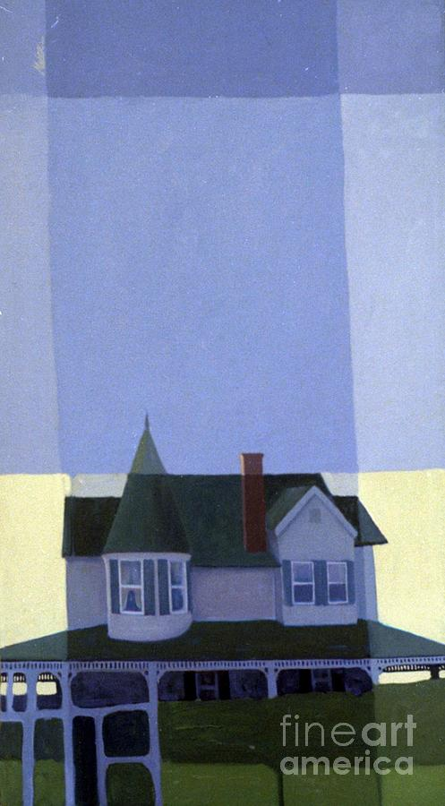 Victorian House Painting - Windows by Donald Maier