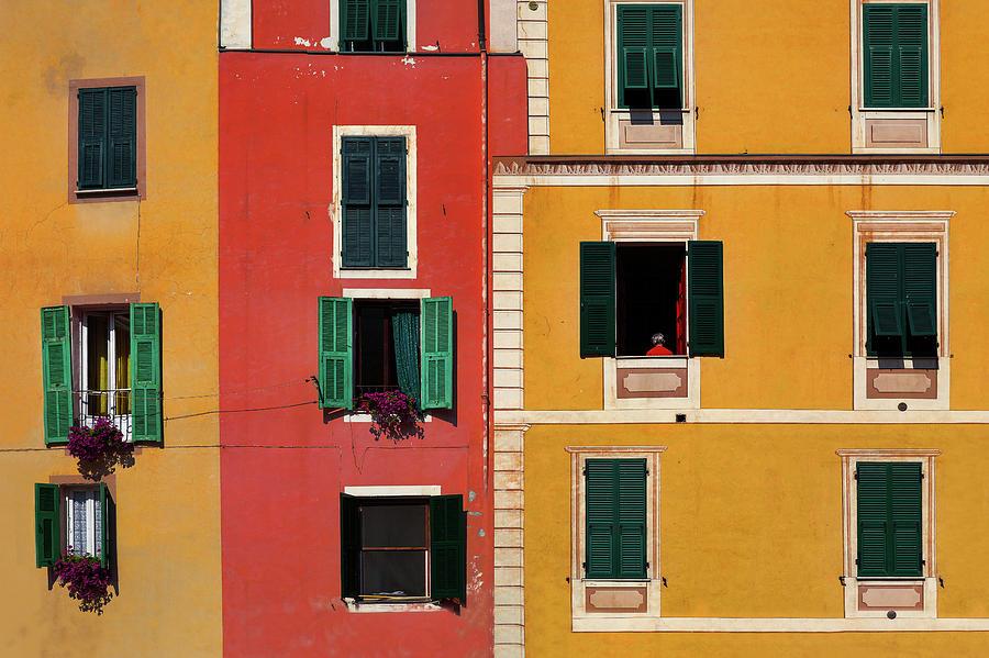 Dolceacqua Photograph - Windows by Marji Lang
