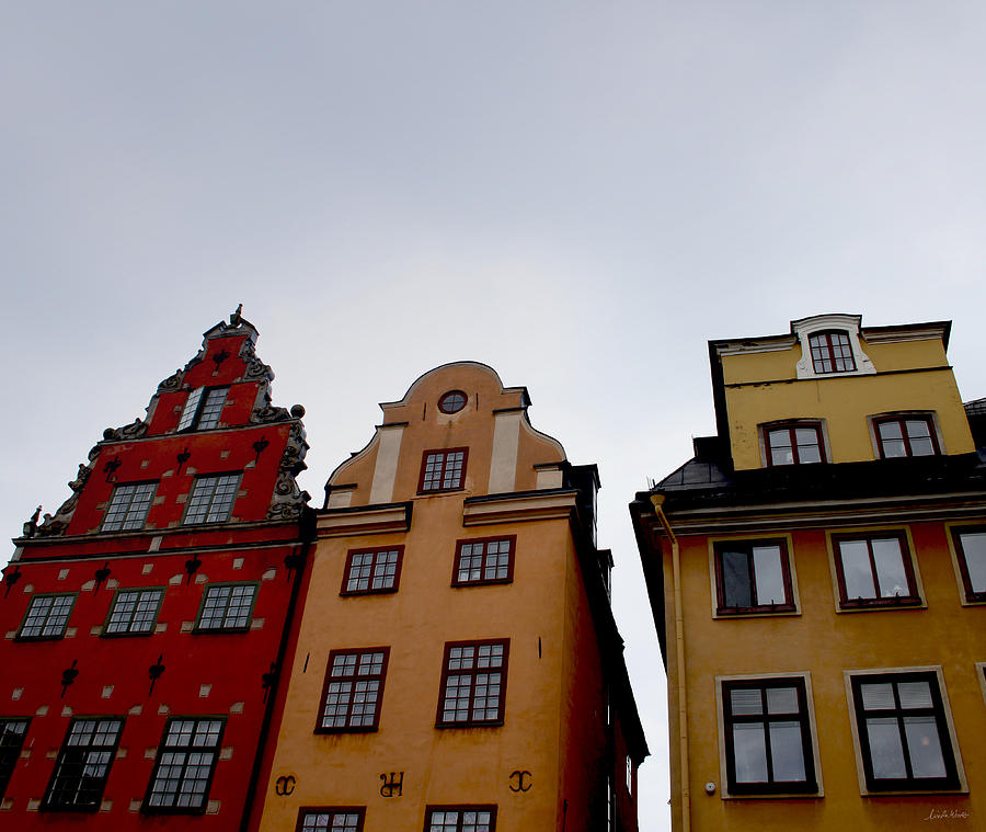 Stockholm Photograph - Windows On Gamla Stan by Linda Woods
