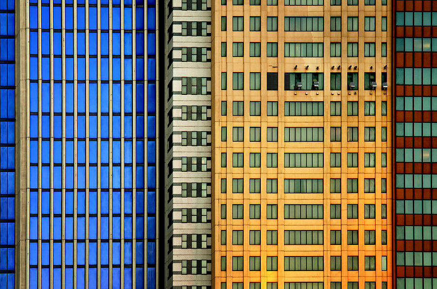 Architecture Photograph - Windows On The City by Mathilde Guillemot
