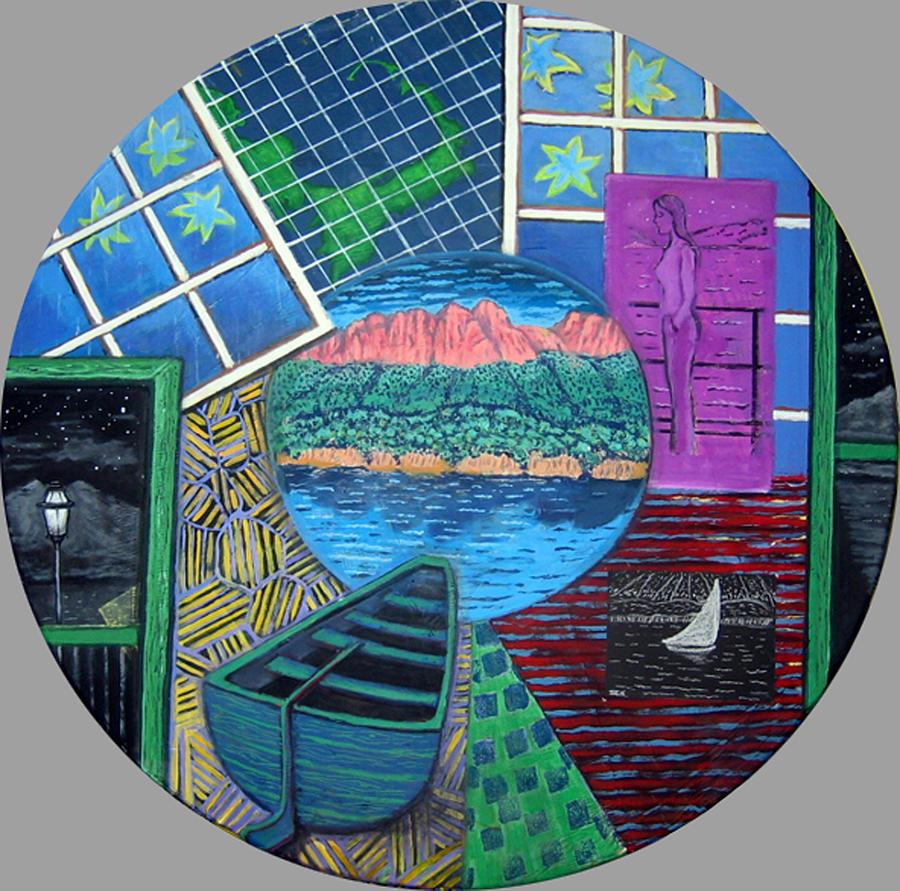Windows Painting - Windows by Susan Stewart