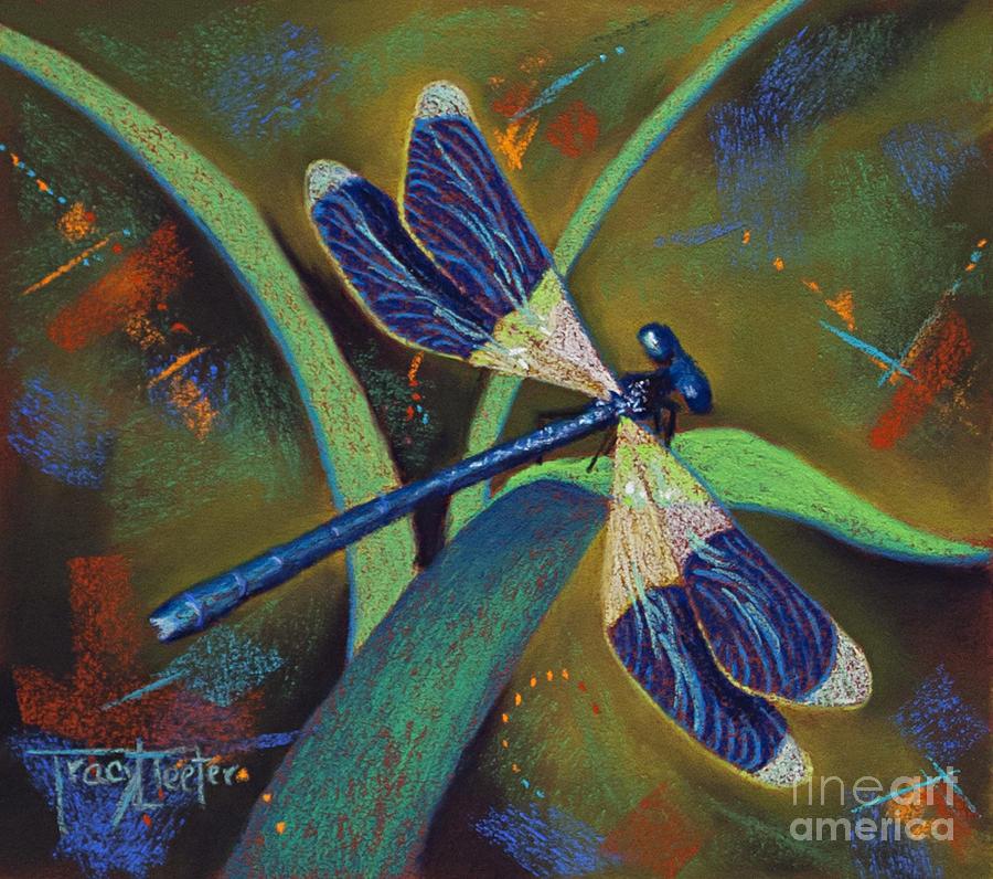 Damselfly Pastel - Winds of Change by Tracy L Teeter