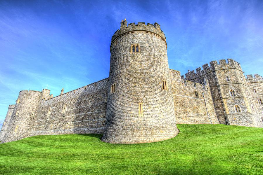 Windsor Castle Photograph - Windsor Castle Battlements  by David Pyatt