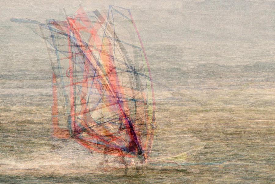Wind Photograph - Windsurfers by Denis Bouchard