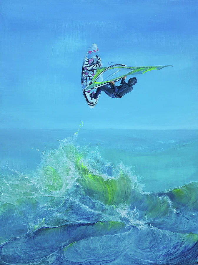 Windsurfing by Penny Golledge
